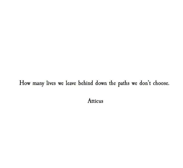 """Paths"" @atticuspoetry #atticuspoetry"