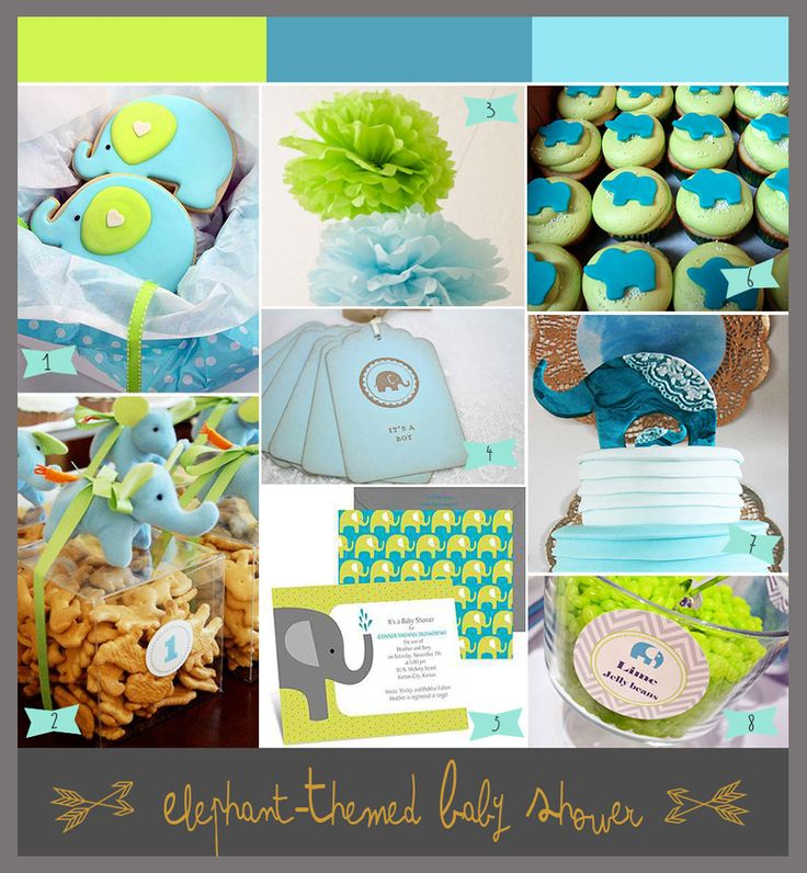 Unique Party Ideas from Bellenza | Bright and Cheery! A Lime Green and Aqua Baby Shower with Elephants!  #babyshowers