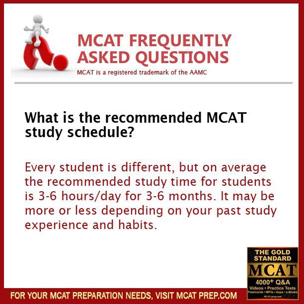 Medical school study schedule