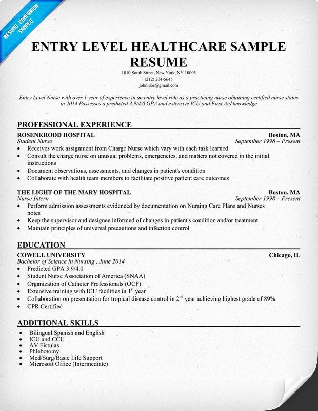 20 Entry Level Registered Nurse Resume Job Resume Samples