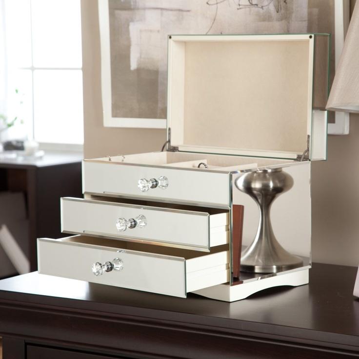 Mina Mirrored Jewelry Box $132