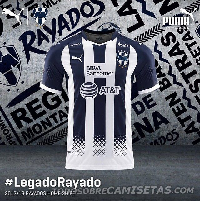 Camiseta local PUMA de Rayados de Monterrey 2017-18