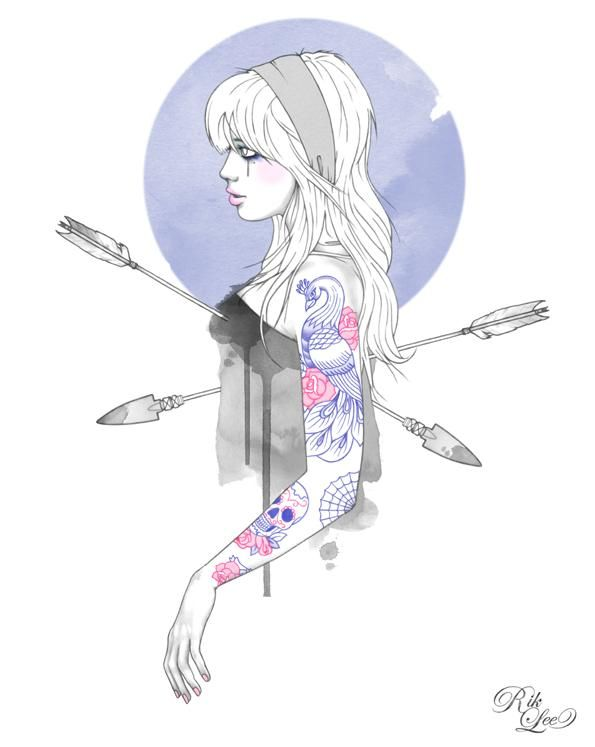 Tattoo Illustrations by Melbourne, Australia based artist, Rik Lee.