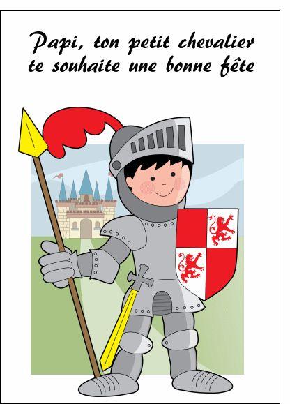 Bonne fête papi petit chevalier - Carte de fête des grands-pères par La Poste