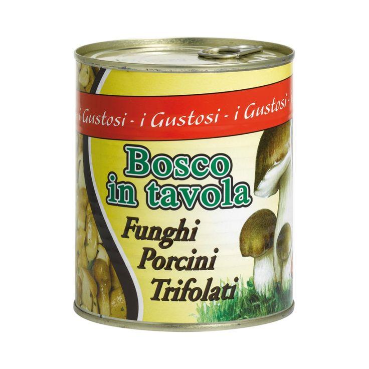 Nova I Gustosi Porcini trifolati Bosco in tavola Borowiki na włosko z czosnkiem i pietruszką - Bosco in Tavola. Porcini mushrooms in oil (trifolati). www.del-italy.eu