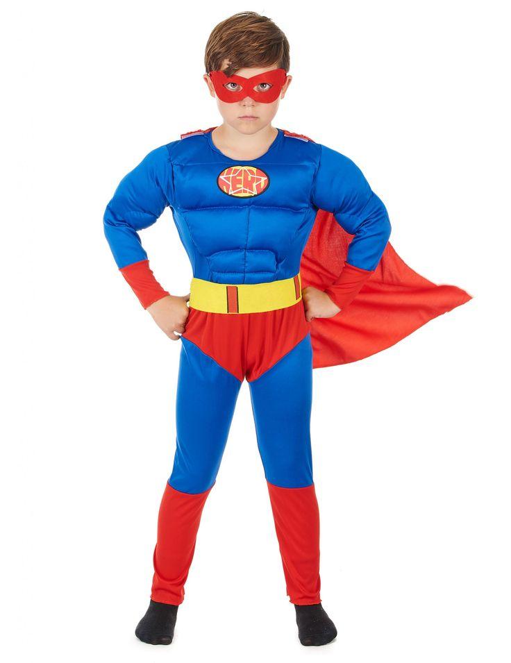 Disfarce super-heroi menino
