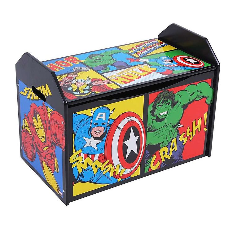 Disney Avengers Toy Box Dunelm Playroom In 2019 Toy