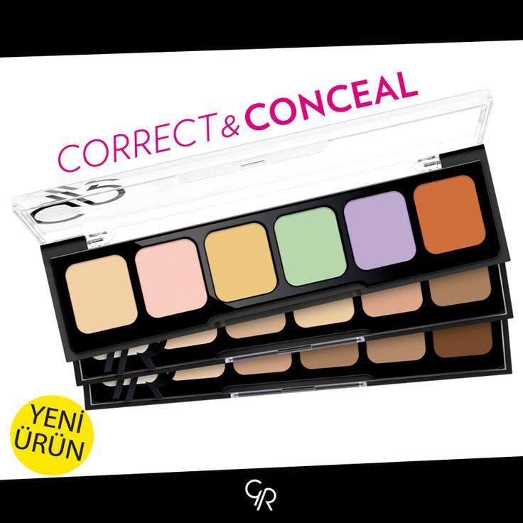 Ciltteki renk düzensizliklerini eşitlemek, koyu gözaltı halkalarını saklamak, ciltteki lekeleri kapatmak için süper bir ürün:  http://www.goldenrosestore.com.tr/correct-concealer-cream-palette.html