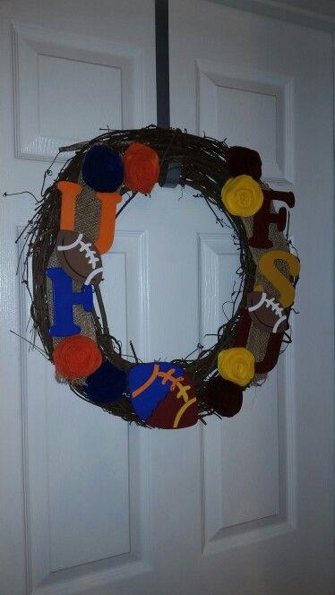 FSU vs UF house divided wreath, super easy to make