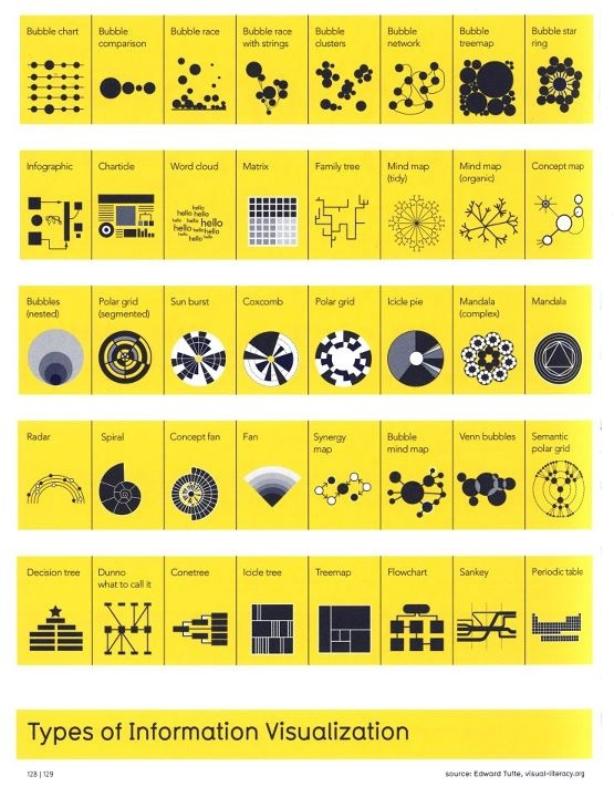 Types of information visualization