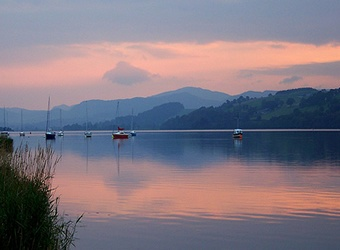 Llyn Tegid,  which means Lake of Serenity, or Bala Lake in English,  in Snowdonia  North Wales - instant memories of fishing but never catching anything and endless walks in the summer. Probably never appreciated how beautiful it was then.