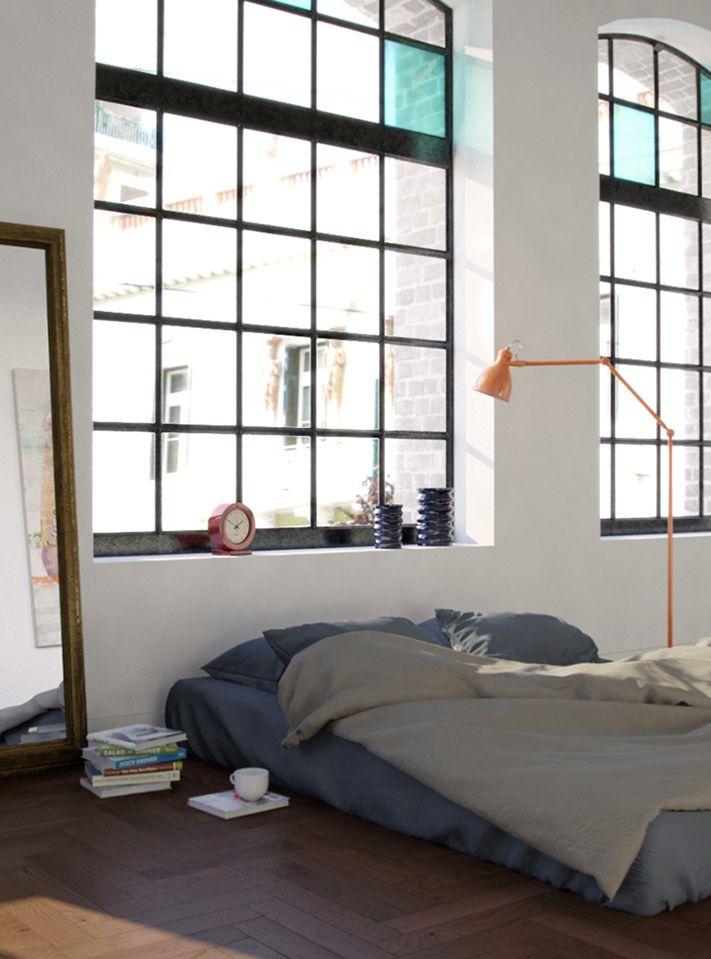bedroom interior design - 3d rendering