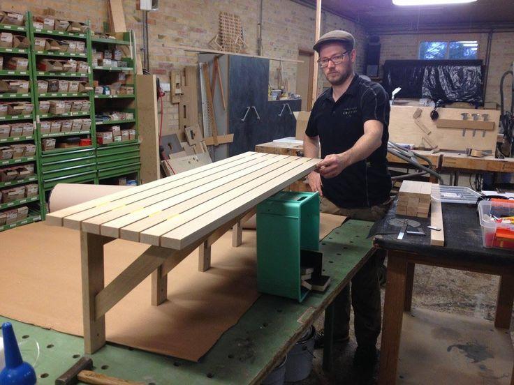 Handmade bench. http://www.kjeldtoft.com/