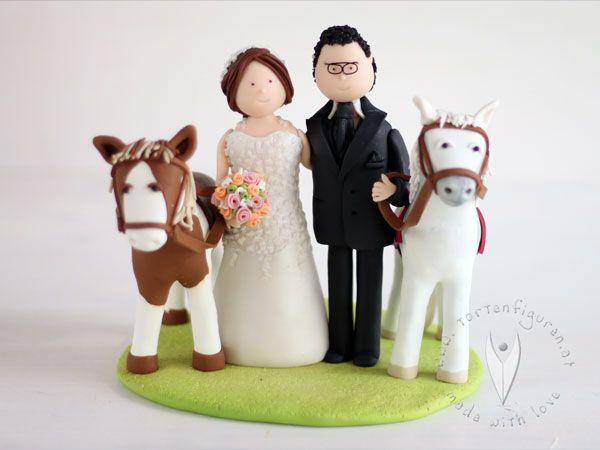 Brautpaar Mit Pferd Tortenfigur Fur Die Hochzeitstorte