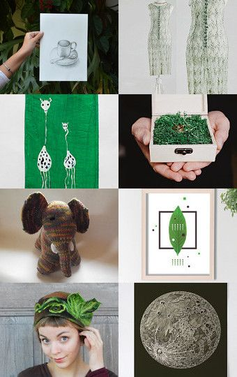 131 - Dark Green Inspiration by Ilona on Etsy--Pinned with TreasuryPin.com