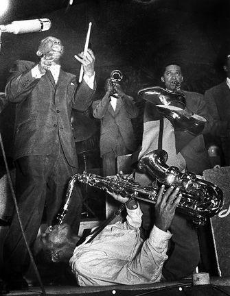 Title: Lionel Hampton, Big Band  Artist: Ed van der Elsken (1925-1990, Dutch)  Year: 1956