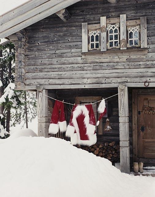 Santa's clothesline