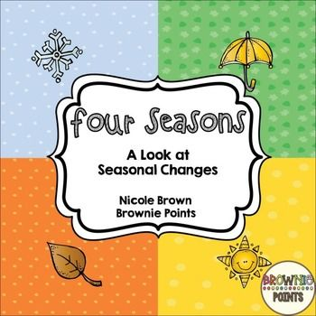 This pack contains more than enough activities for a unit on daily and seasonal changes!Included in this resource: Fact Pages All About ____ (graphic organizer for each season) Posters Acrostic poem templates Four seasons song Worksheets and activities for weather, temperature, months, clothing, activities, trees, animals in winter Seasonal sort worksheets and cards Favorite season graph Favorite season writing activityDont forget to check out the preview!If you like this, you may be…