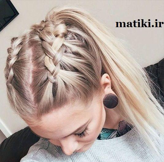 تصاویر بافت مو و شنیون با آموزش | ماتیکی