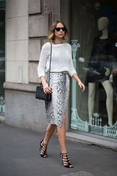 High Waisted Pencil Skirt: How To Style Prints / Bold And Expensive Looking