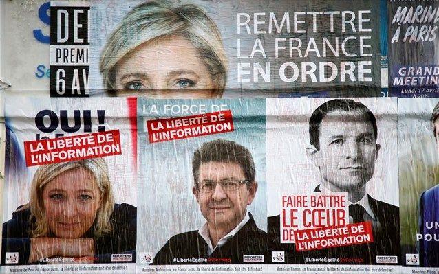 Γαλλία: Μία μονάδα μπροστά η Λεπέν, τρίτος ο Μελανσόν