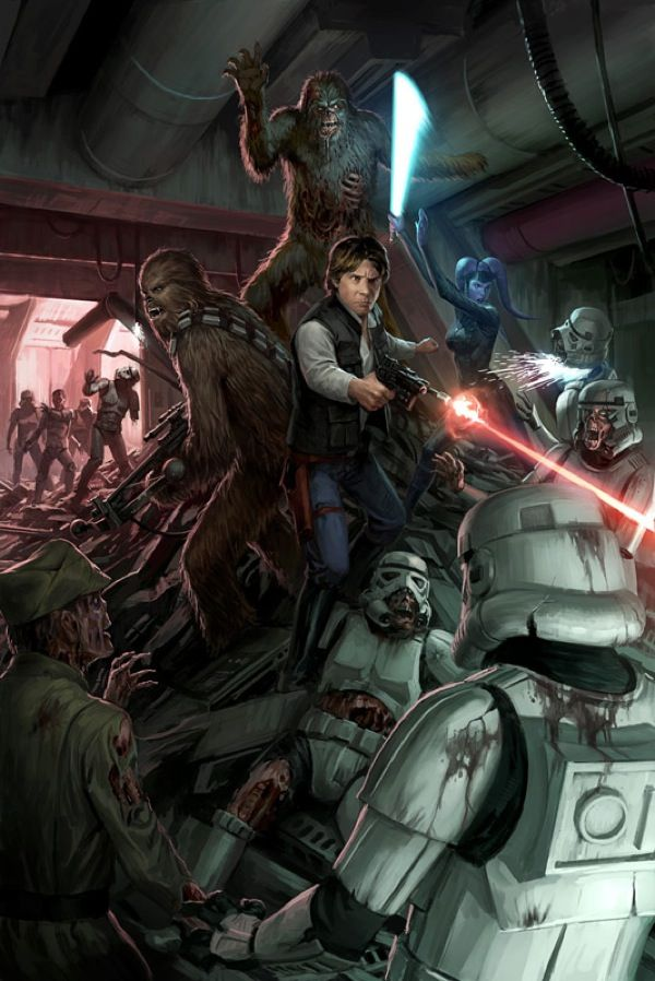 Zombie Star Wars paintings for Joe Schreiber's novel Death Troopers
