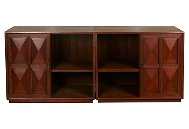 Midcentury Storage Cabinets, Pair made by Ricardo Lynne Co.