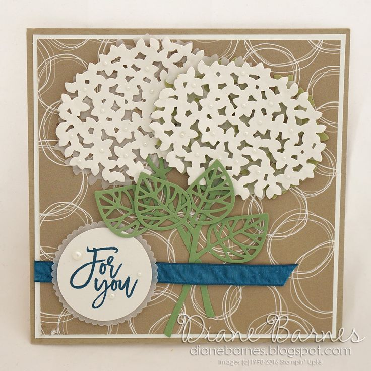 For you card using Stampin Up Thoughtful Branches bundle. By Di Barnes…
