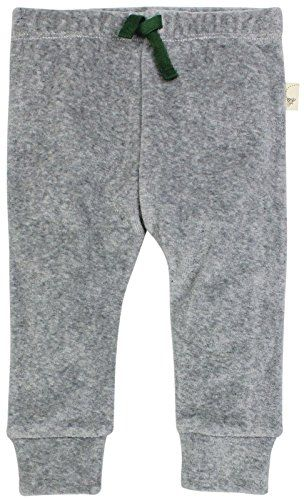 Burts Bees Baby Boys Organic Velour Jogger Pant Heather Grey 12 Months *** You can find more details by visiting the image link.