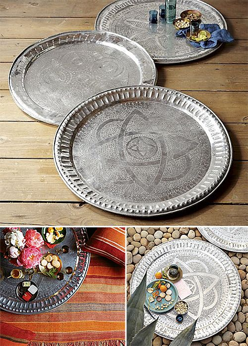 DIY Moroccan tray - could use with camel head stand: