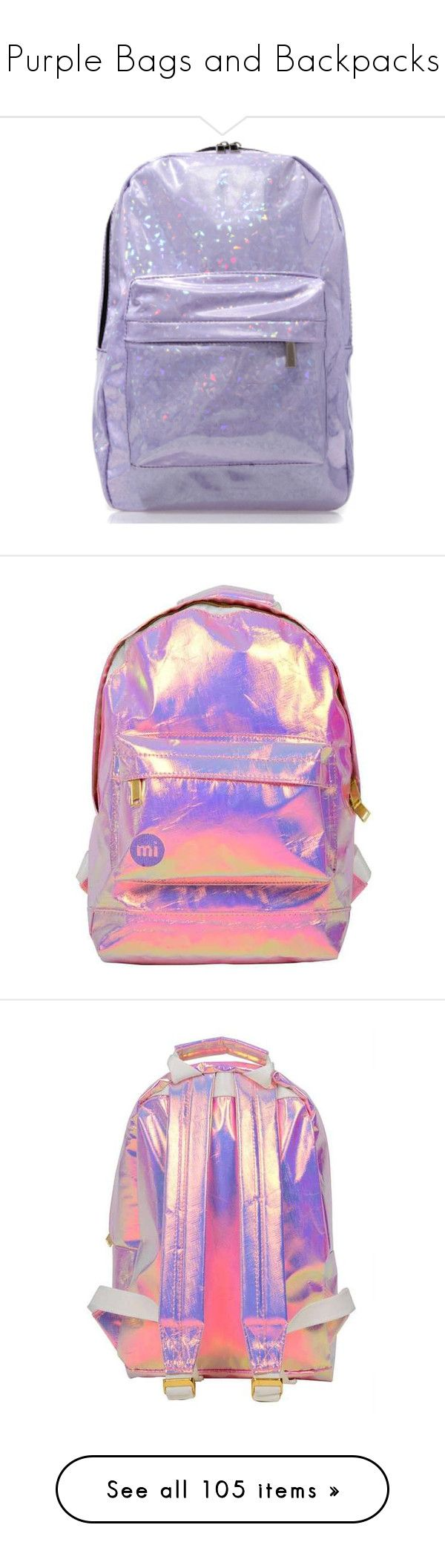 """""""Purple Bags and Backpacks"""" by karla-jhoana ❤ liked on Polyvore featuring bags, handbags, lilac, purple purse, lilac purse, hand bags, love moschino purse, logo bags, clutches and purple"""