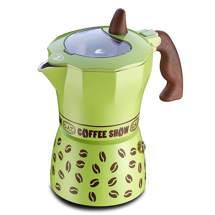 Gat Coffee Show Espresso Makinası 3 Kişilik Yeşil ::