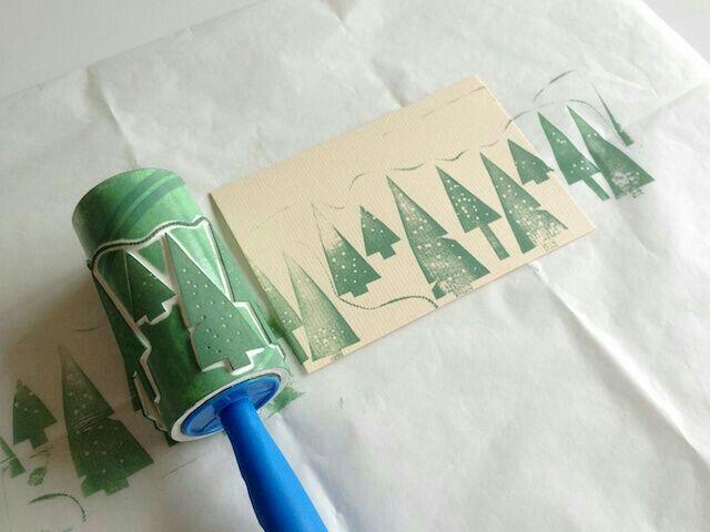 Stempelrolle selbst gemacht mit Moosgummi