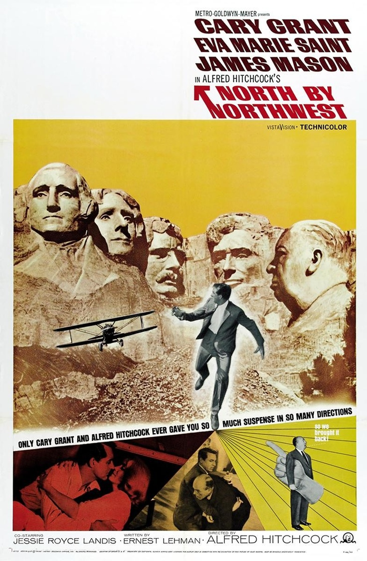 North by NorthwestFilm, Movie Posters, Classic Movie, North By Northwest, Picture-Black Posters, Comics Book, Northwest 1959, Cary Grant, Alfred Hitchcock