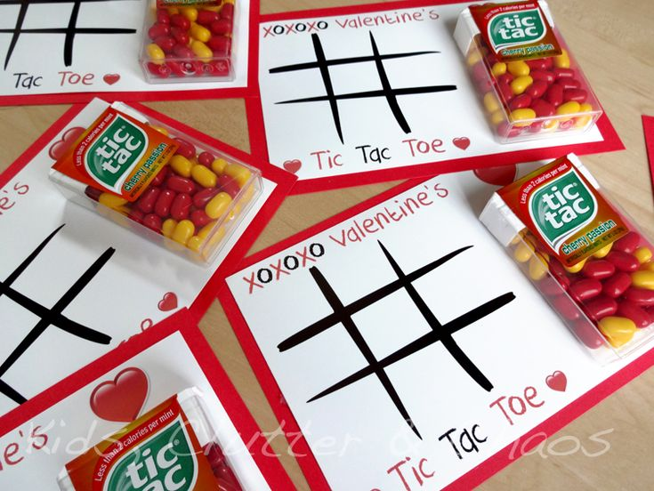 Tic Tac Toe Valentine's - how cute are these!