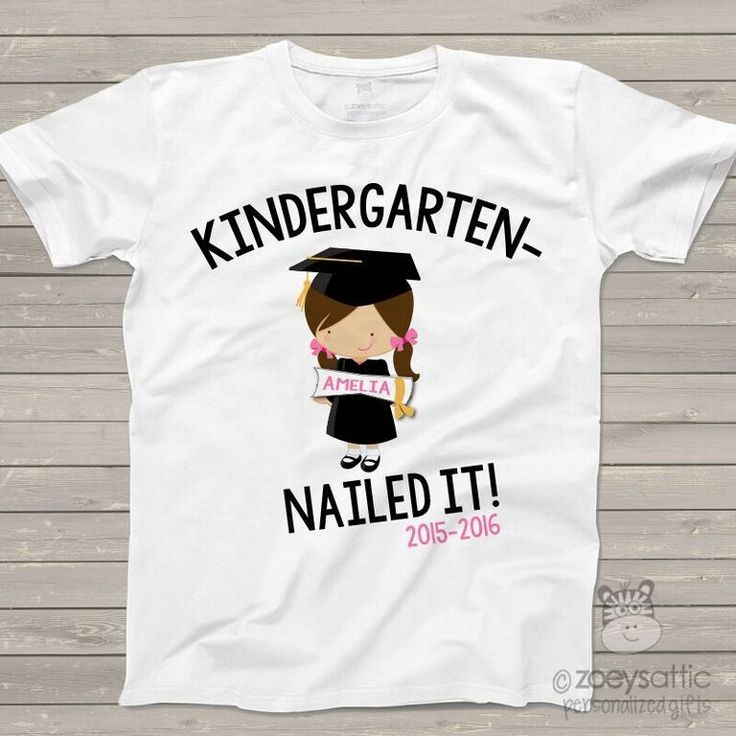 personalized kids shirts, kindergarten completion girl, graduation t-shirt