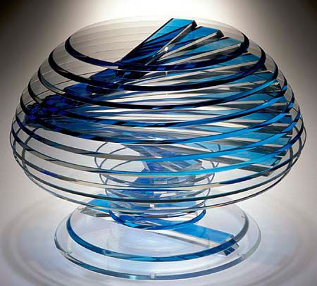 Sidney Hutter, Glass Artist - Kylix Vase #3 Pinned from http://www.sidneyhutter.com