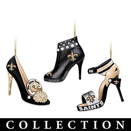 New Orleans Saints: Stiletto Shoes, Shoes Ornaments, Saint Steppin, New Orleans Saints, Ornaments Collection, Dat National, High Heels, Christmas Ornaments, Stilettos Shoes