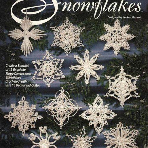 Free Crochet Pattern Christmas Snowflake Decorations Christmas