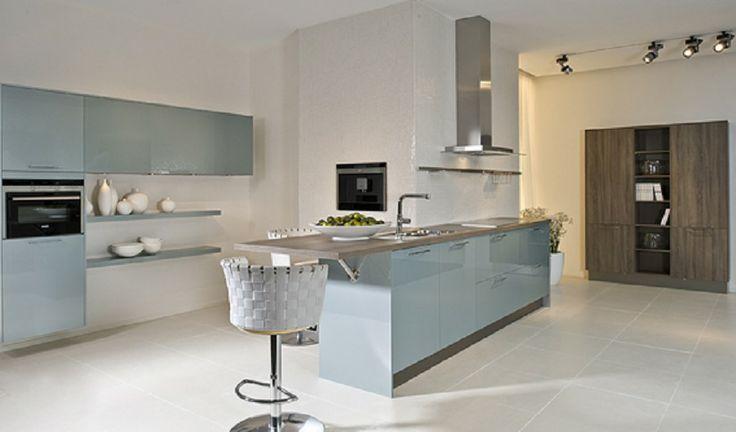 Hellblaue Küche von Pino by ALNO   Light blue kitchen by Pino ALNO - alno küchen grifflos