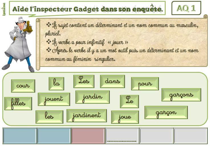 IPOTÂME ....TÂME: CE1/2 grammaire ludique : les enquêtes de l'inspecteur