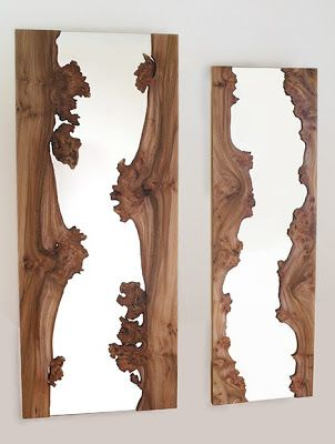 The Frames Of Mirror Are Formed With 2 Pieces Wood Running On Either Side