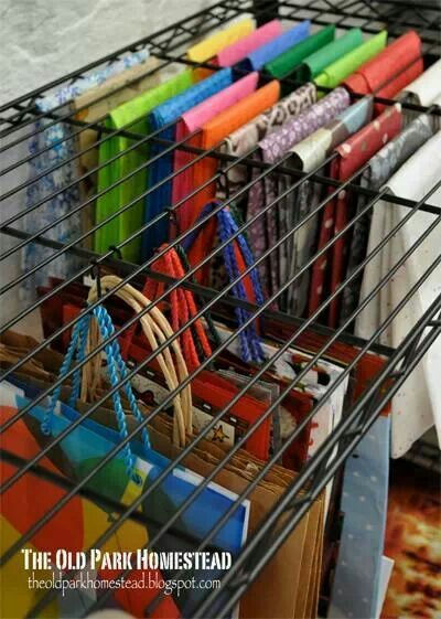 For hanging tissue paper and gift bags