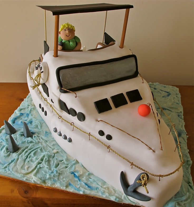 Fishing Cake Decorations Uk : 1000+ images about boat cakes on Pinterest Lobsters ...