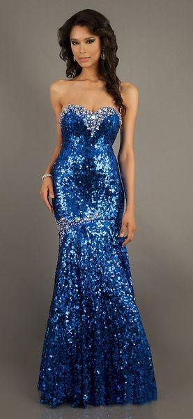 gorgeous royal blue sequin pageant dress long strapless. Black Bedroom Furniture Sets. Home Design Ideas