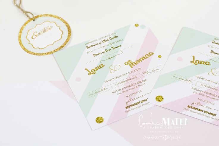 INVITATII BOTEZ - DESIGNER CORINA MATEI - SHOP ONLINE WWW.C-STORE.RO