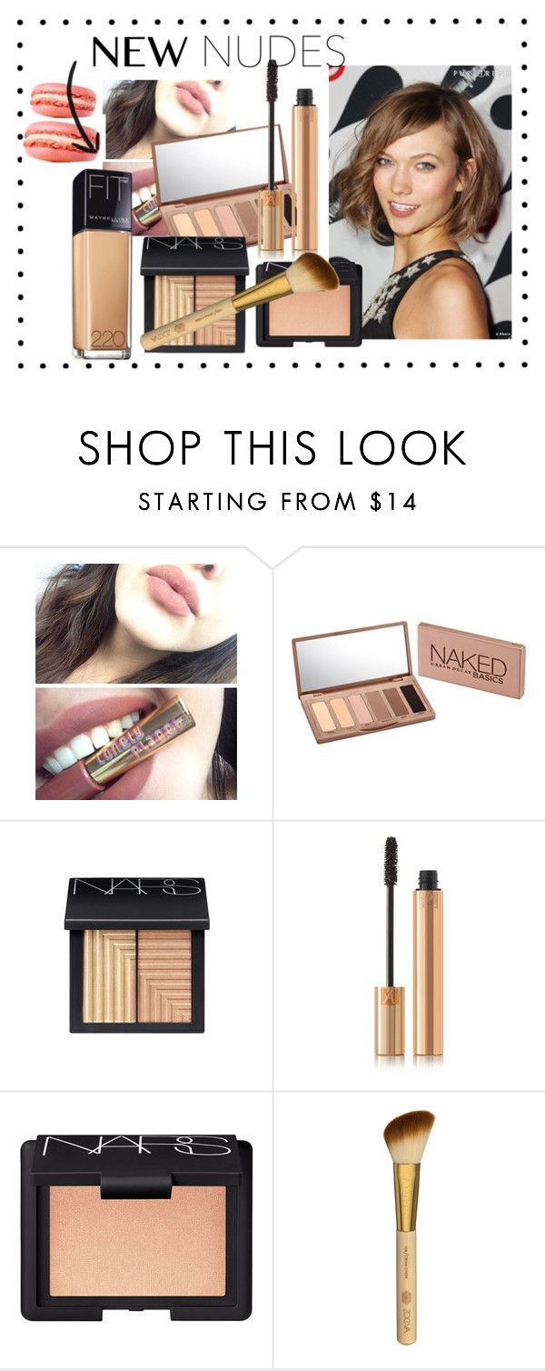 Naked# by hacii on Polyvore featuring bellezza, Urban Decay, Yves Saint Laurent, NARS Cosmetics, Pink, nude, naked and karliekloss