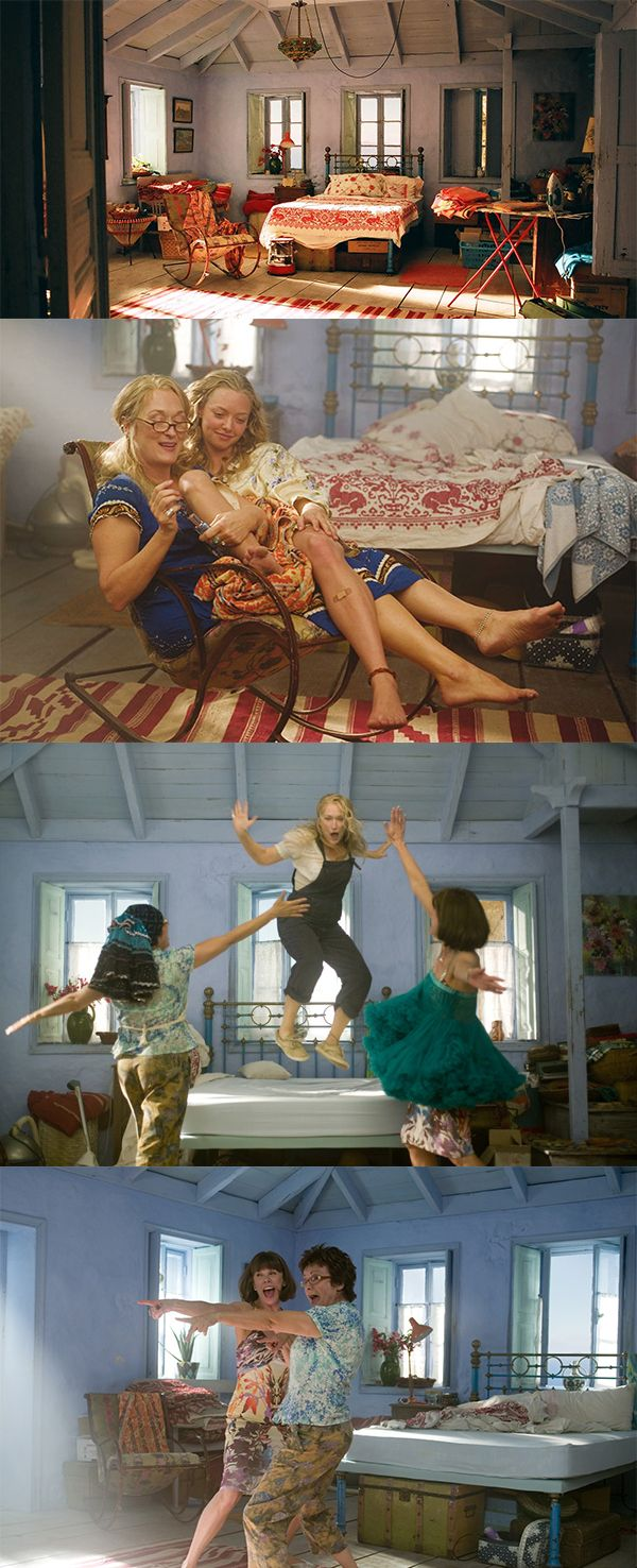 Most Memorable Bedrooms in Film... #18 Mamma Mia! Click for more decor inspiration from the cinema!                                                                                                                                                                                 Más