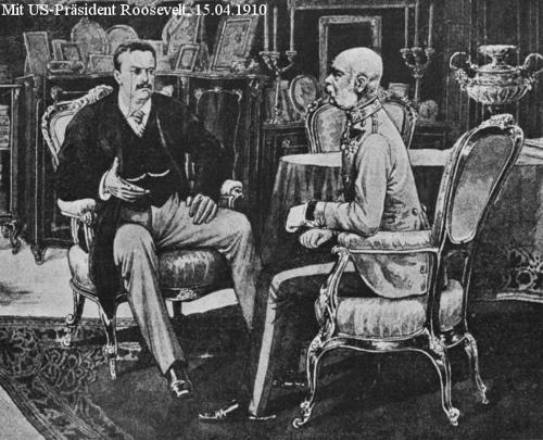 Kaiser Franz Joseph mit Präsident Teddy Roosevelt, 1910 by Gsida, via Flickr