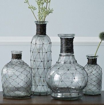 Wire Bottle Bud Vase beach-style-vases